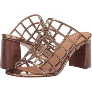 Sigerson Morrison Daina Bronze Gold Mules Sandals